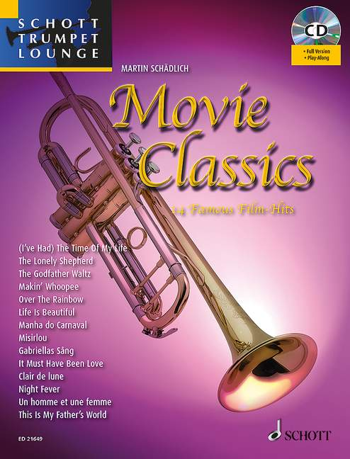 Movie Classics 14 Famous Film Hits with appended piano part edition with CD tru
